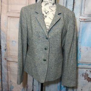 Lafayette 148 NY Blazer Wool Silk Blend